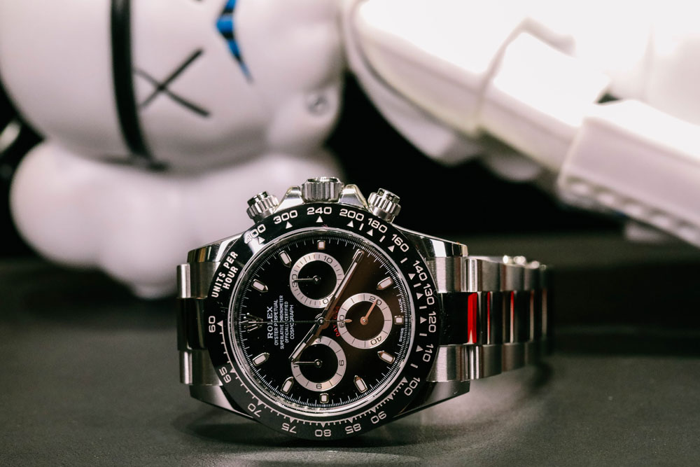 ROLEX M116500LN Cosmograph Daytona in Stainless Steel and Cerachrom Bezel
